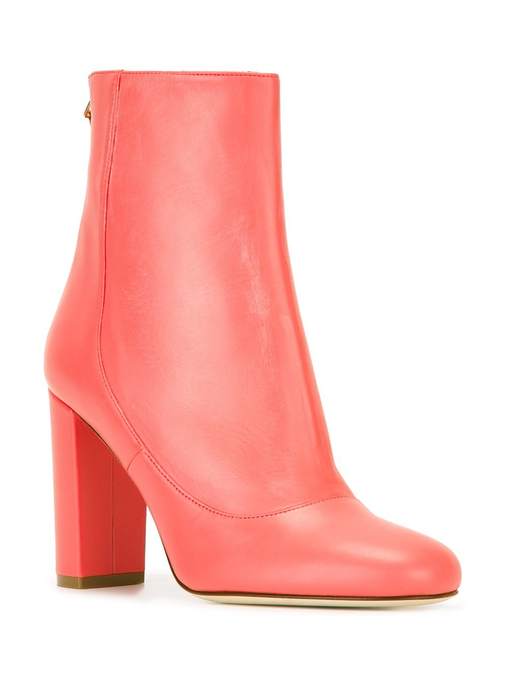 Lyst M Missoni Chunky Heel Ankle Boots In Pink
