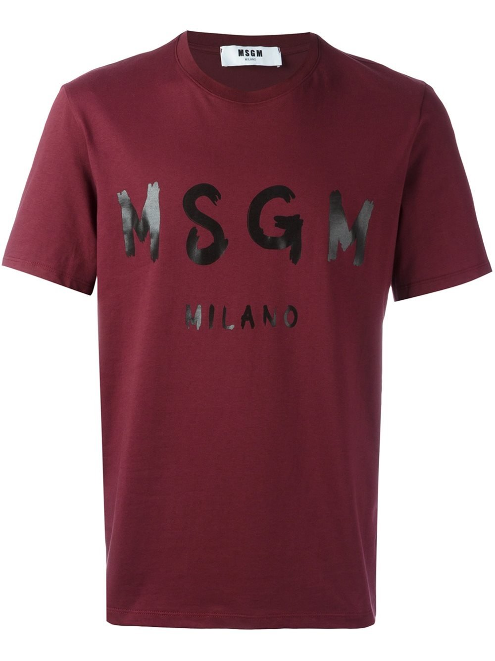 Msgm Logo Print T Shirt In Multicolor For Men Pink Purple