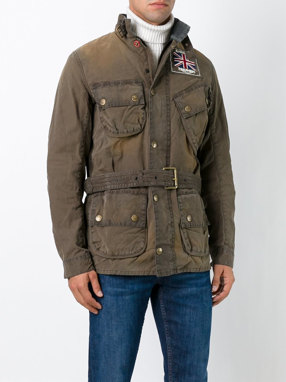 When you're on a mission to look casual, cool, and current, choose this belted military jacket. Page /5.