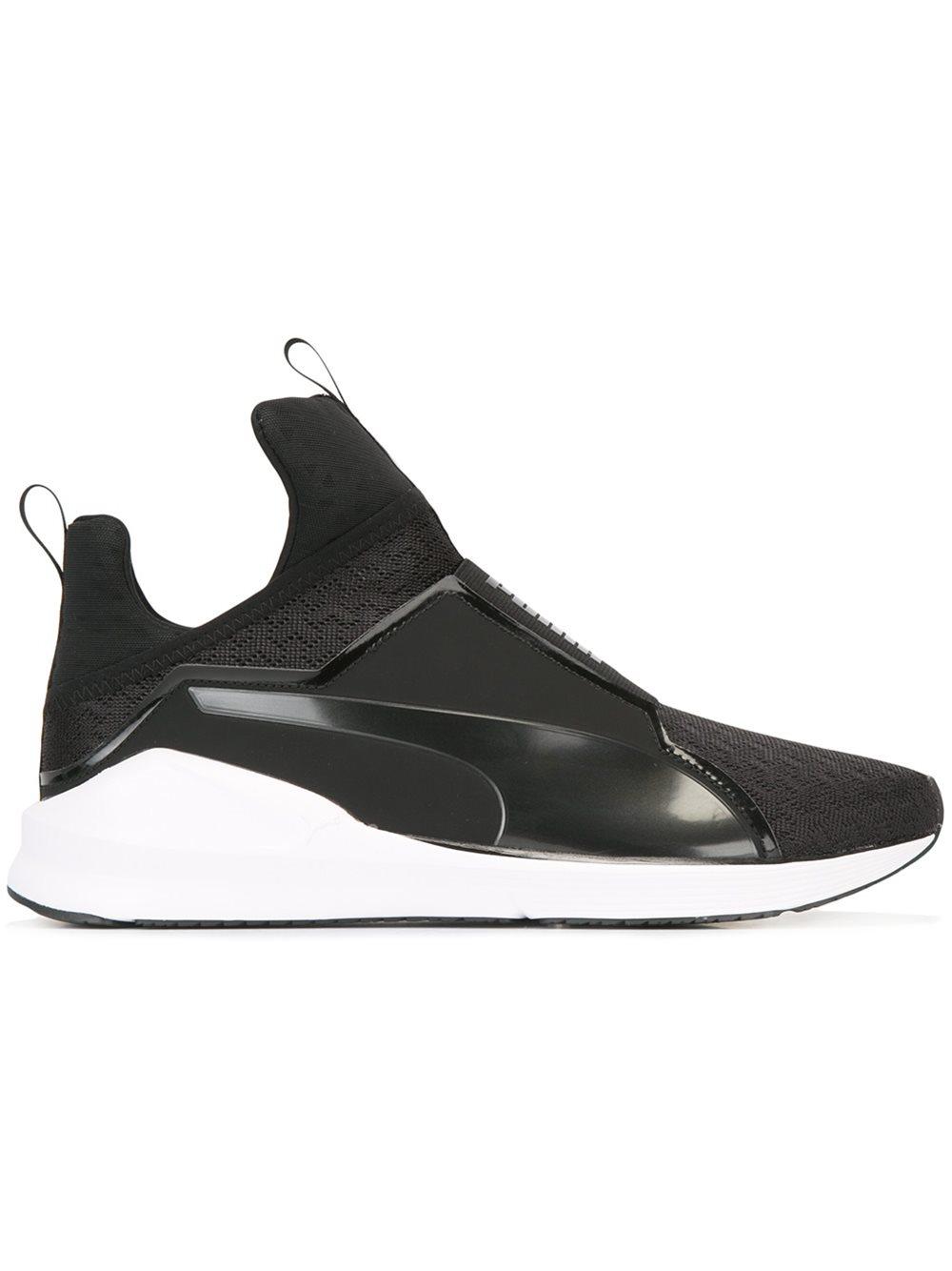 puma slip on sneakers in black lyst. Black Bedroom Furniture Sets. Home Design Ideas