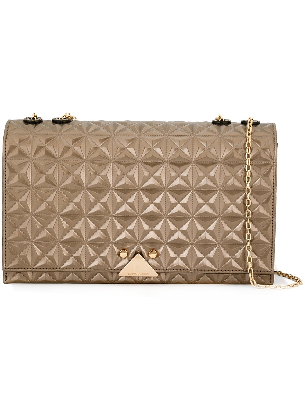 Lyst - Emporio Armani Quilted Crossbody Bag in Metallic 06d2ad7871d77