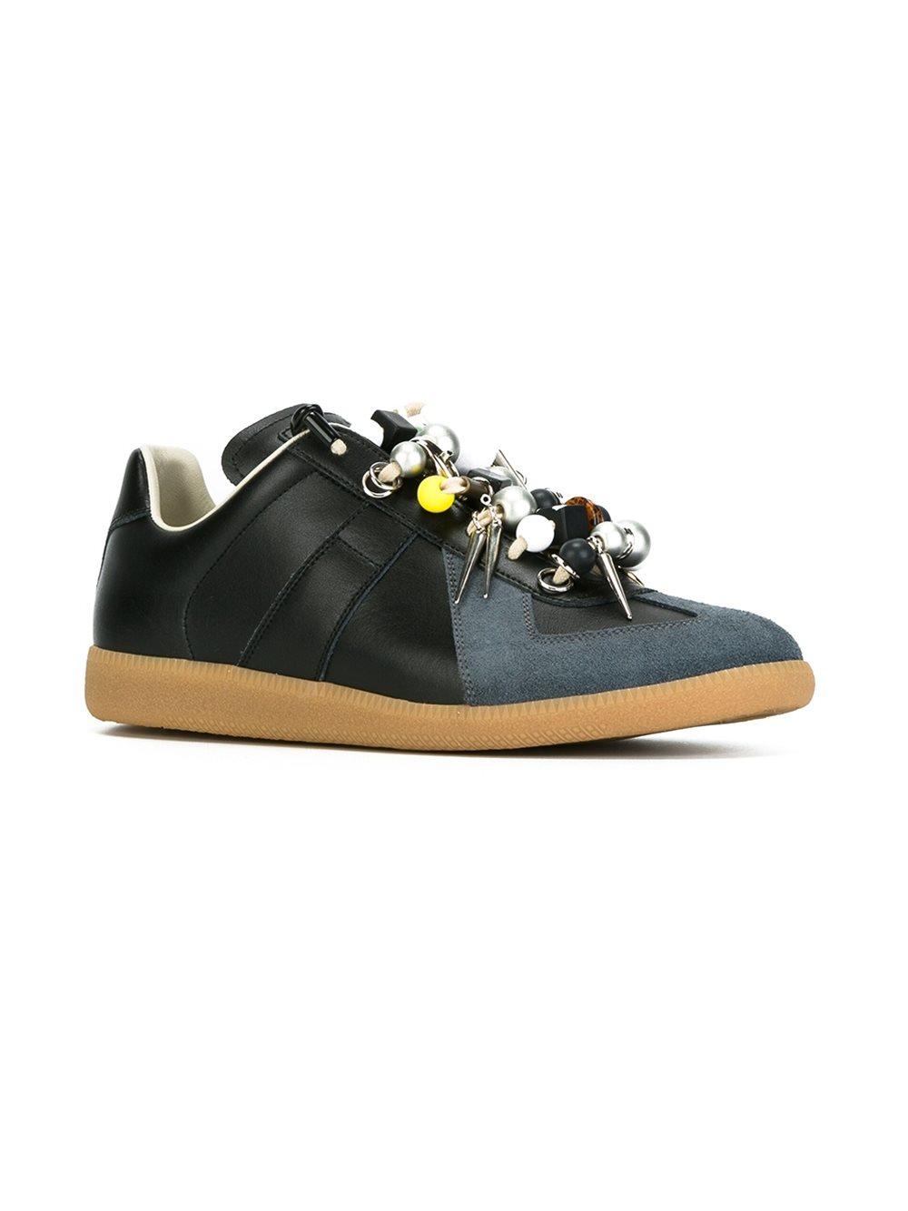 Lyst - Maison Margiela Replica Beaded Sneakers in Brown
