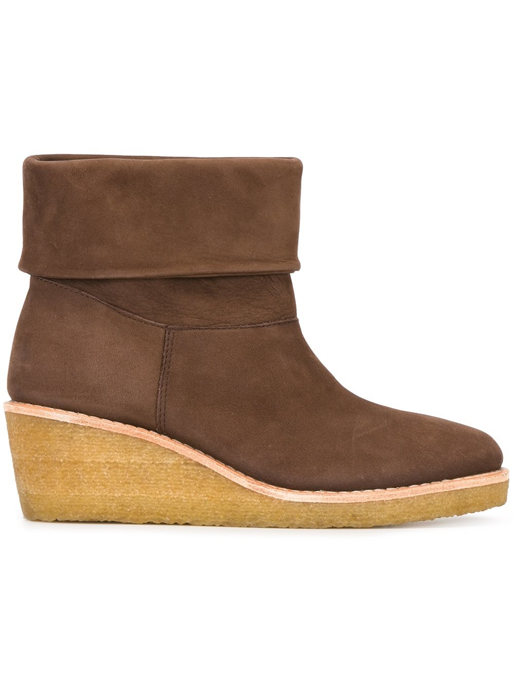 34d3c6a018d5 Lyst - A.P.C. Platform Ankle Boots in Brown