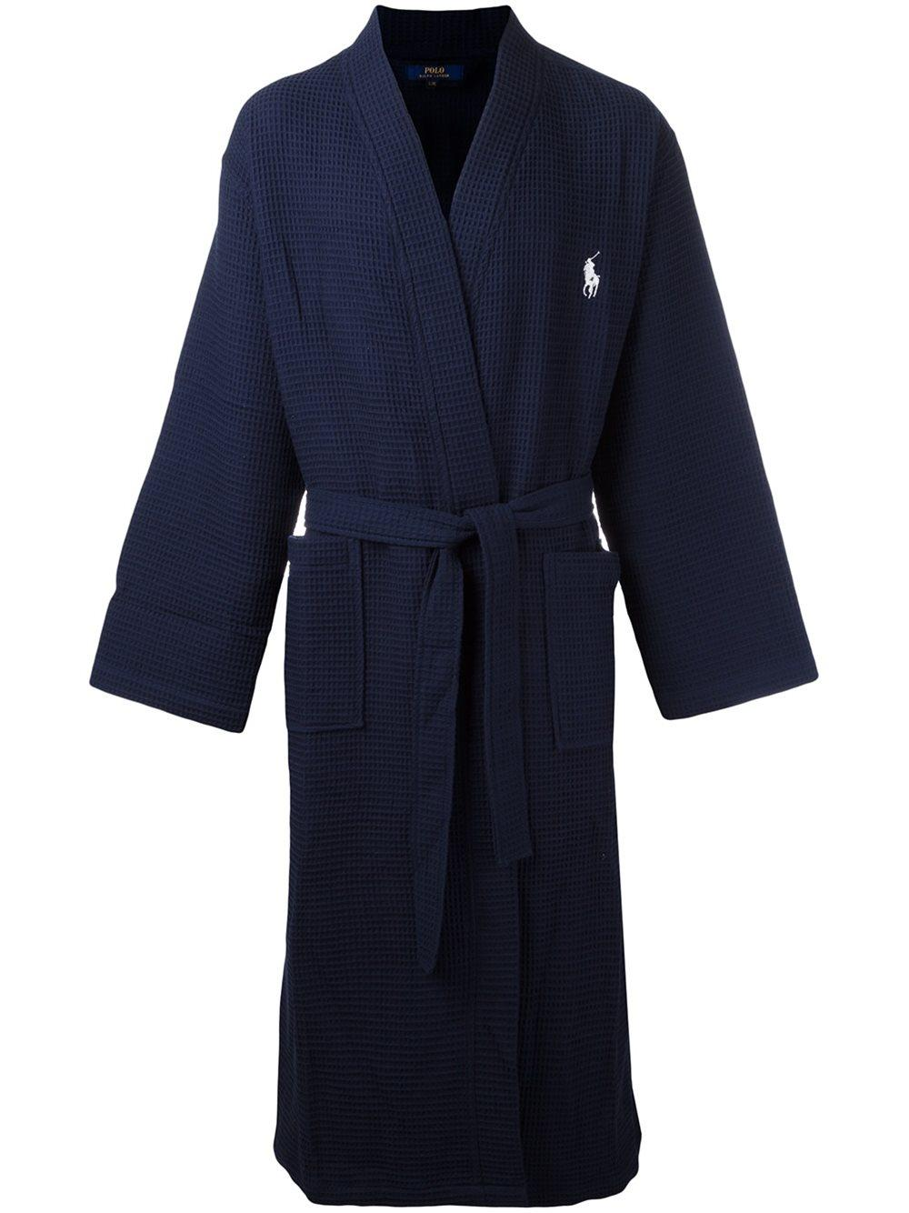 lyst polo ralph lauren belted bath robe in blue. Black Bedroom Furniture Sets. Home Design Ideas