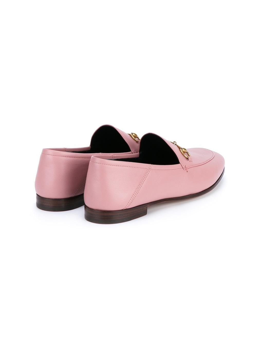 Lyst - Gucci Jordaan Leather Loafers in Pink
