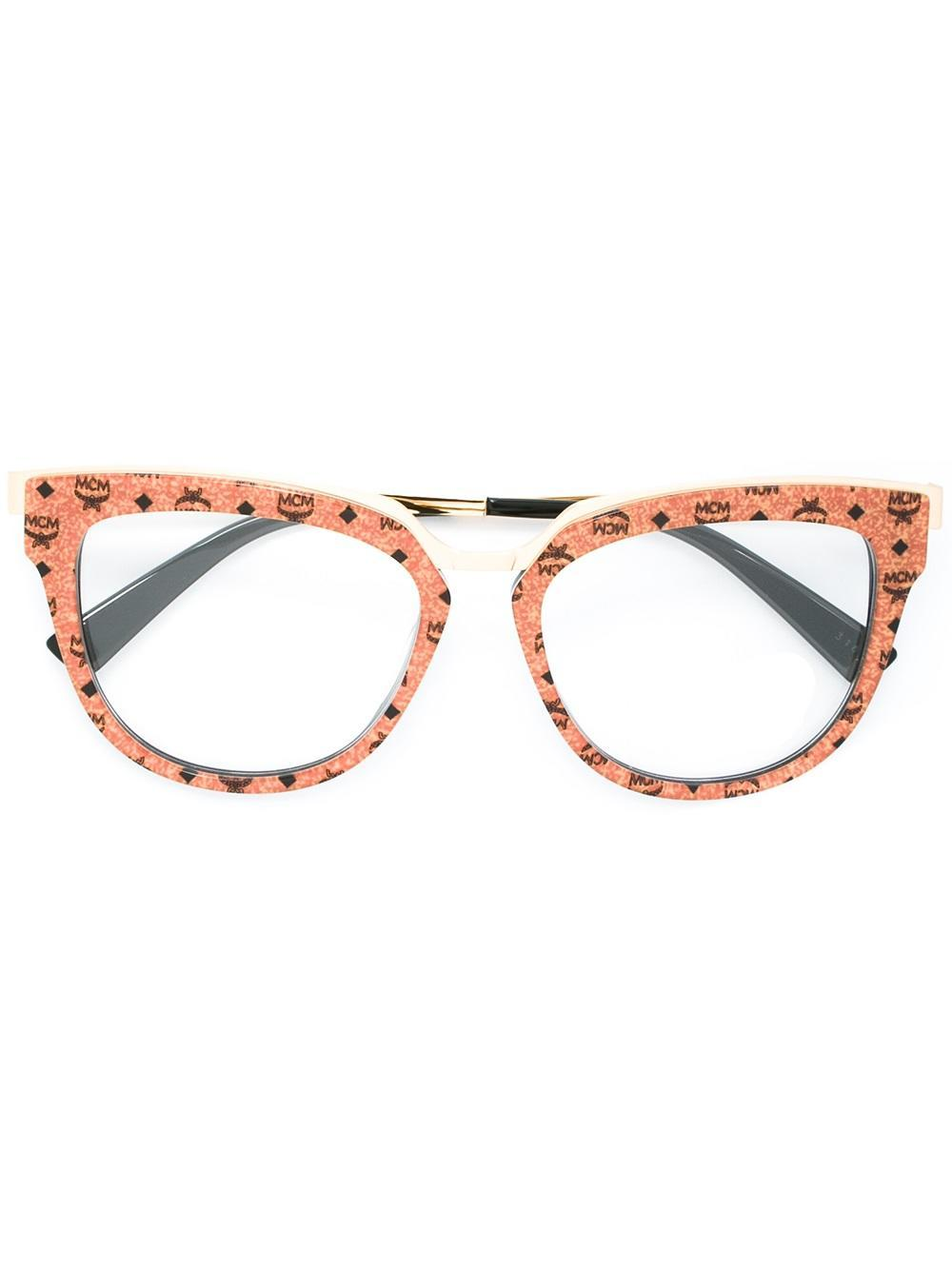 a59ff06b6ebe7 MCM Patterned Round Frame Glasses - Lyst