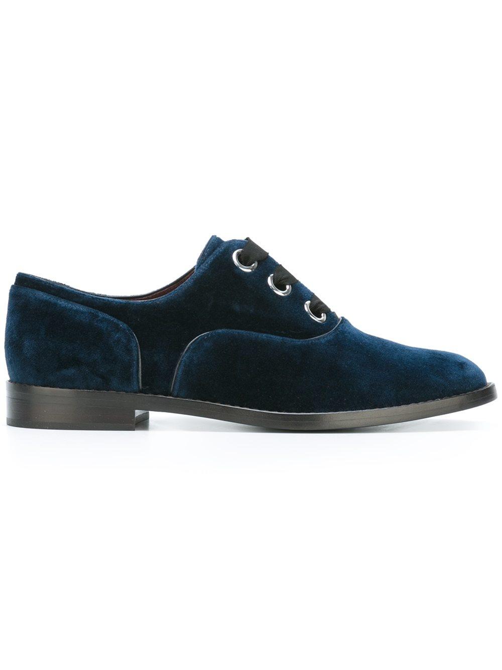 Lyst - Marc Jacobs - Velvet Oxford Shoes - Women - Leather ...