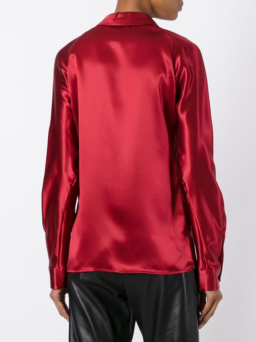Lyst dsquared spread collar shirt in red for What is a spread collar shirt