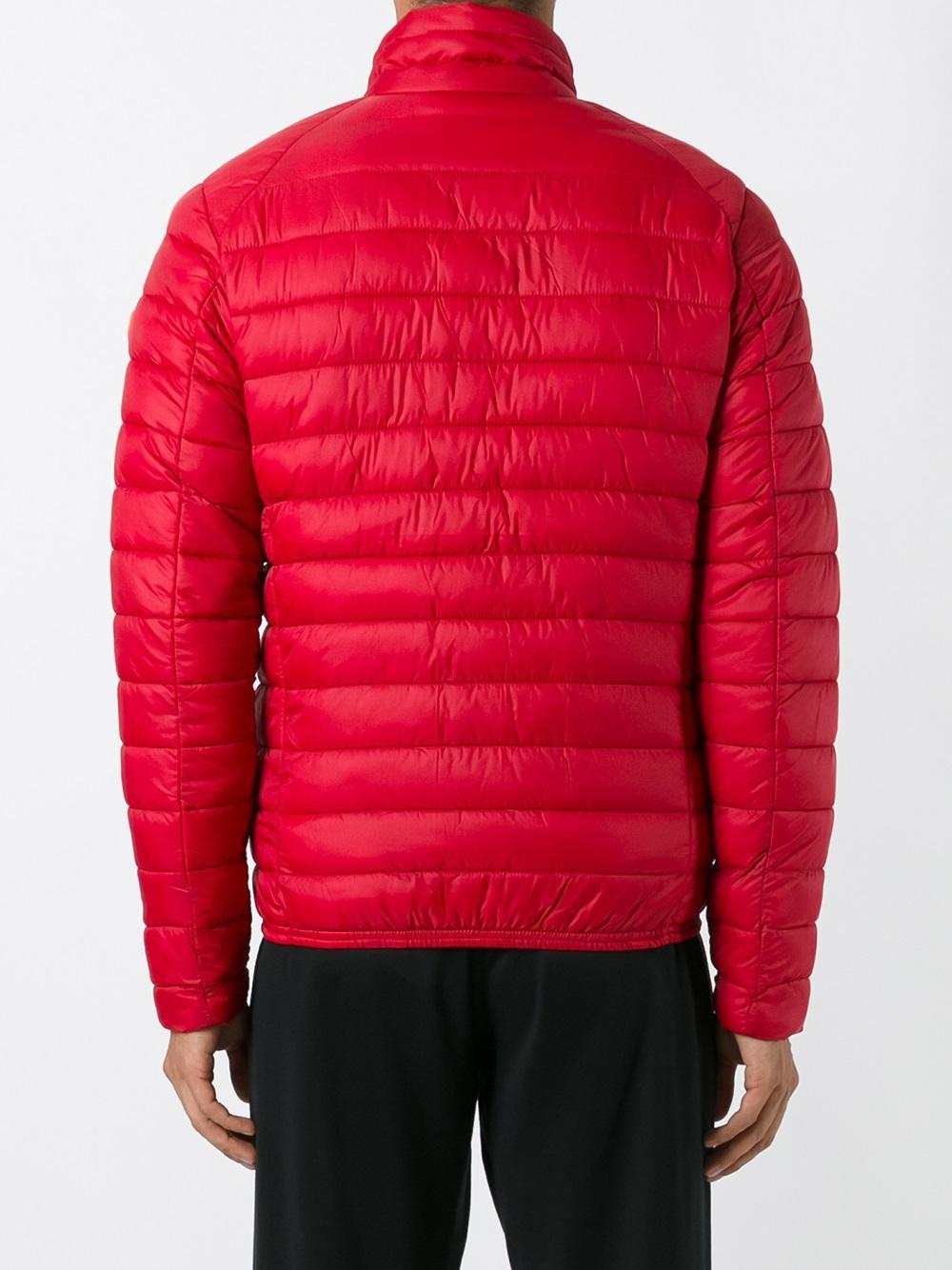 Save The Duck Padded Jacket In Red For Men Lyst