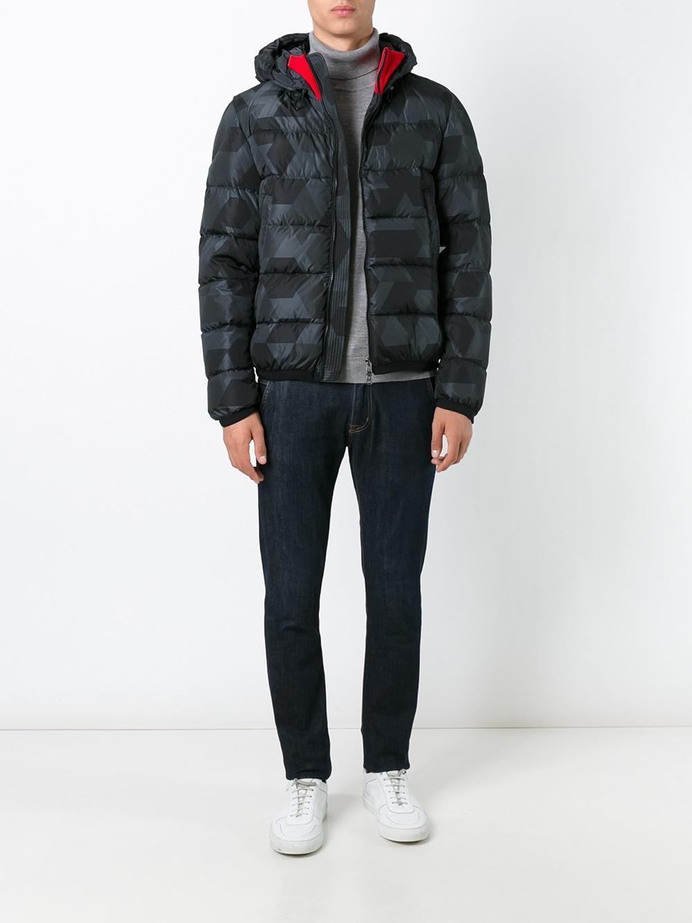 Moncler Clamart Padded Jacket In Black For Men Lyst
