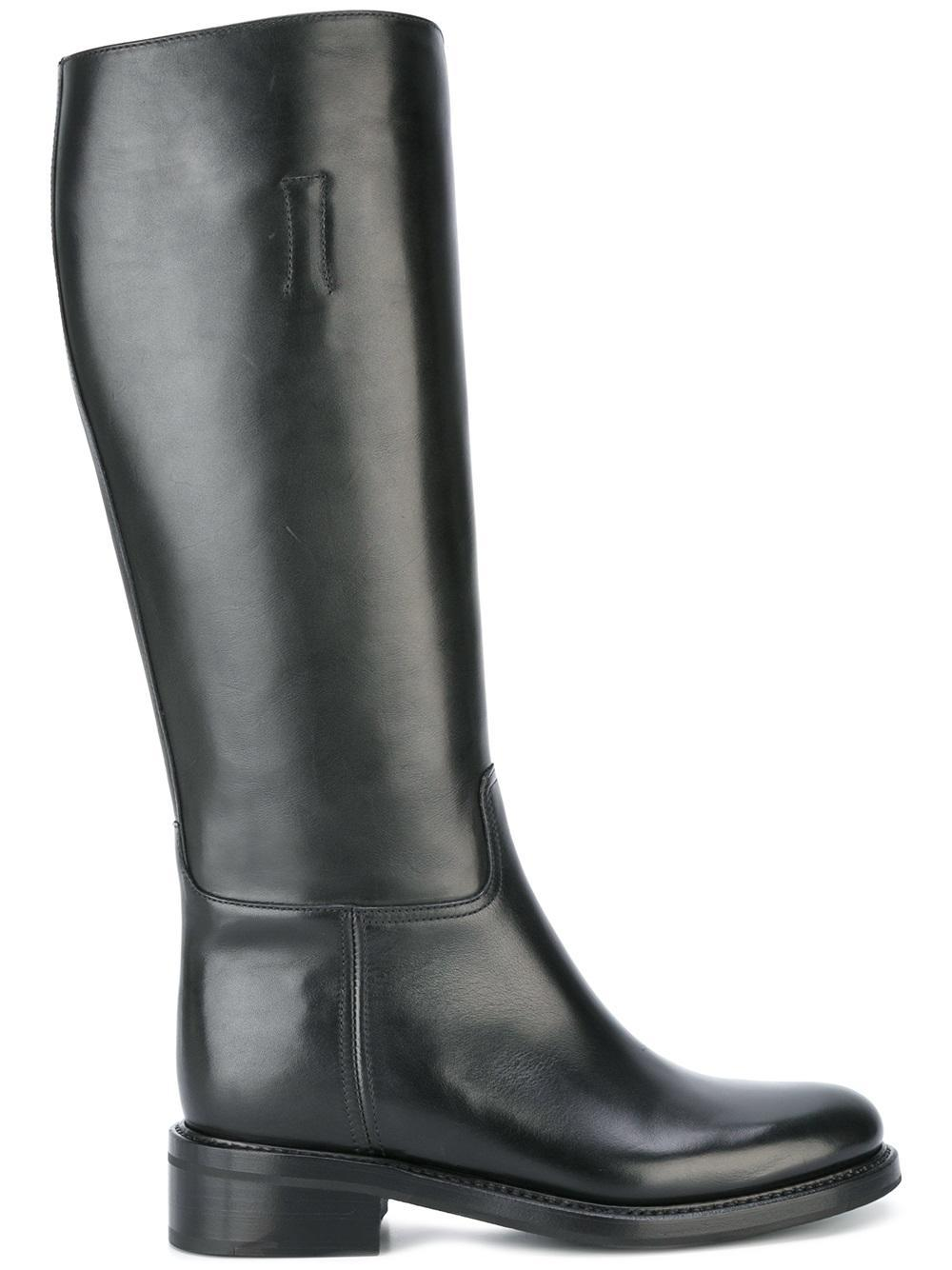 church s knee length boots in black lyst