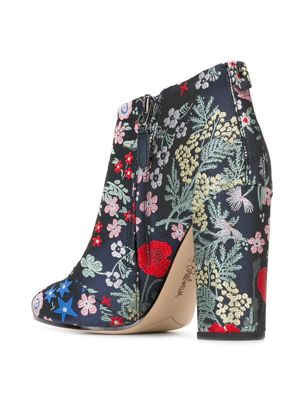 88d92bd3fc3c8 Lyst - Sam Edelman Cambell Embroidered Booties in Blue