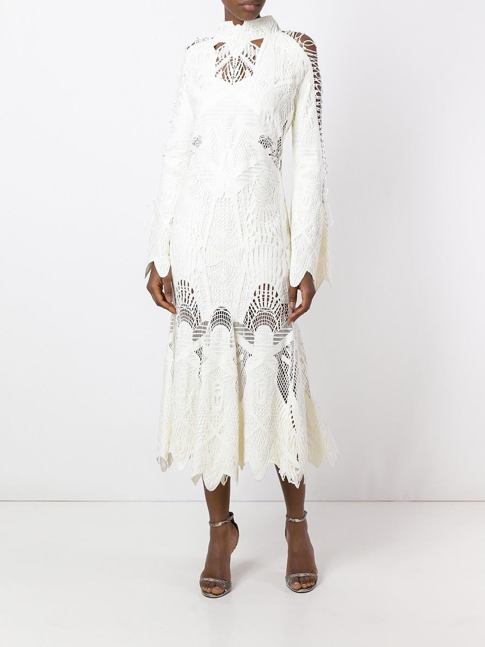 Lyst Jonathan Simkhai Laced Trumpet Dress In White
