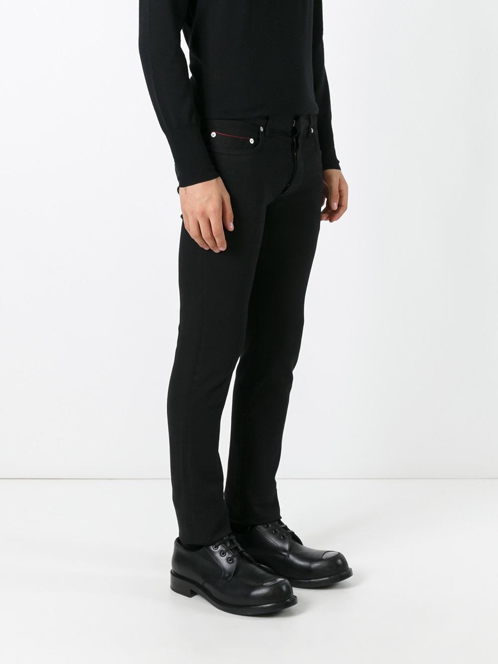 dior homme skinny jeans in black for men lyst. Black Bedroom Furniture Sets. Home Design Ideas