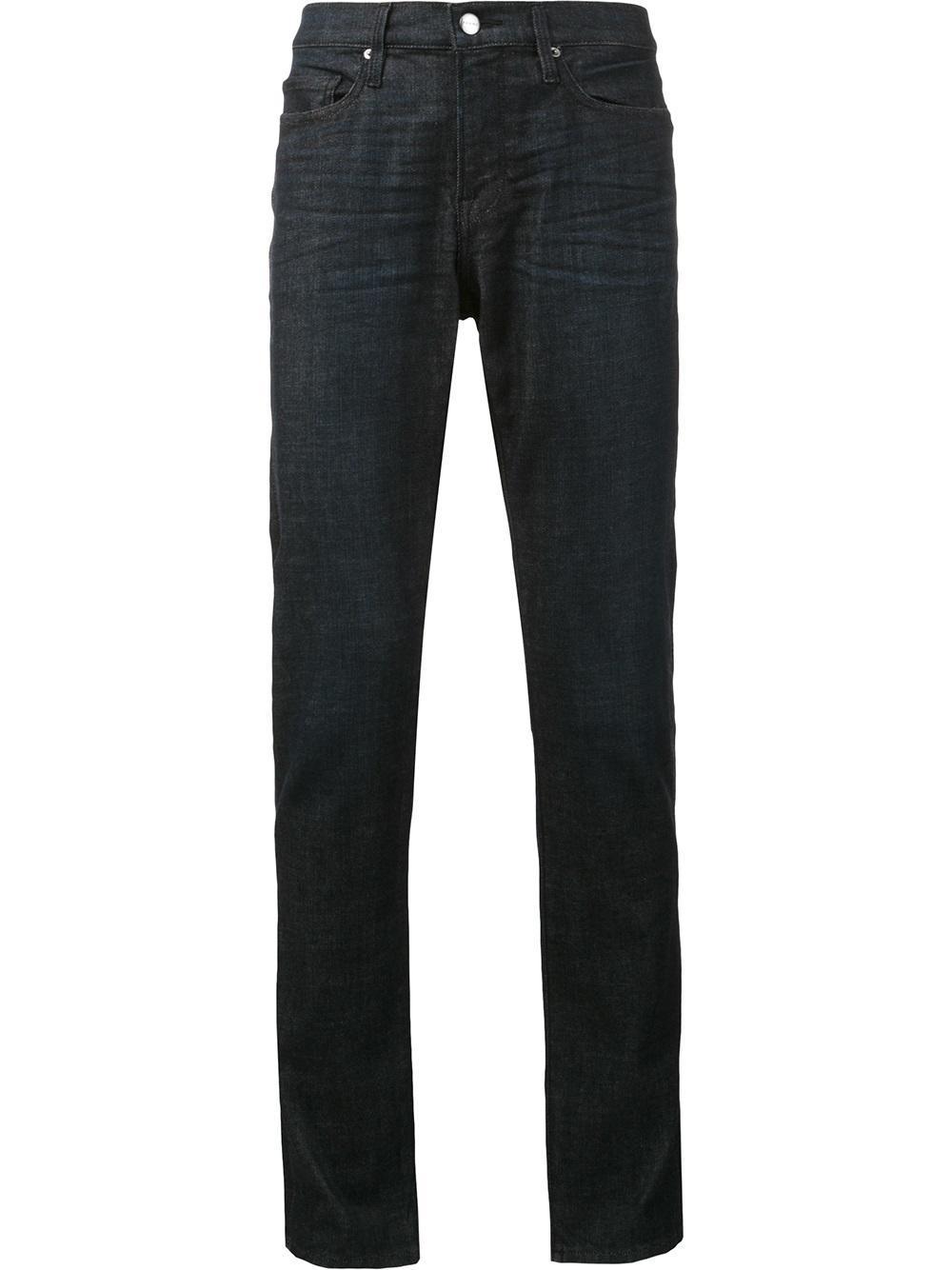 frame 39 l 39 homme 39 jeans in blue for men lyst. Black Bedroom Furniture Sets. Home Design Ideas