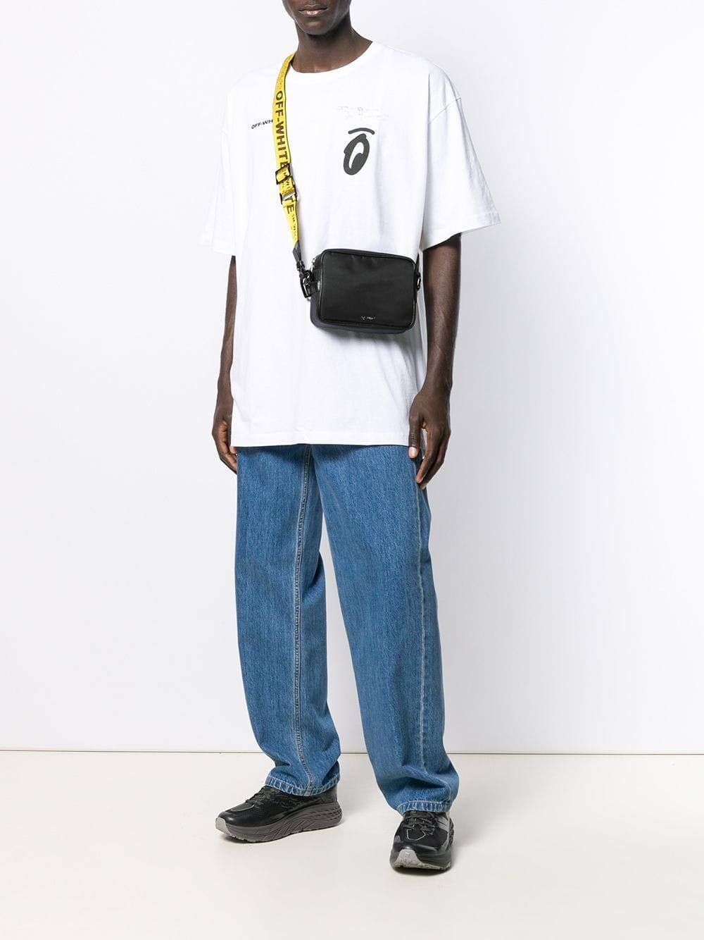 67c061db4 Off-White c/o Virgil Abloh Logo Strap Cross-body Bag in Black for Men - Lyst
