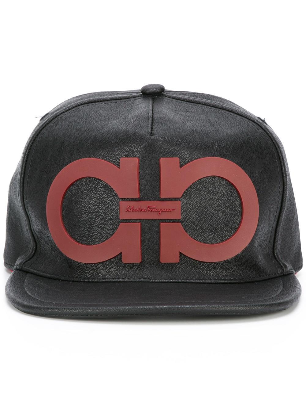 Lyst - Ferragamo Gancini Detail Cap in Black for Men c4a628d63b12