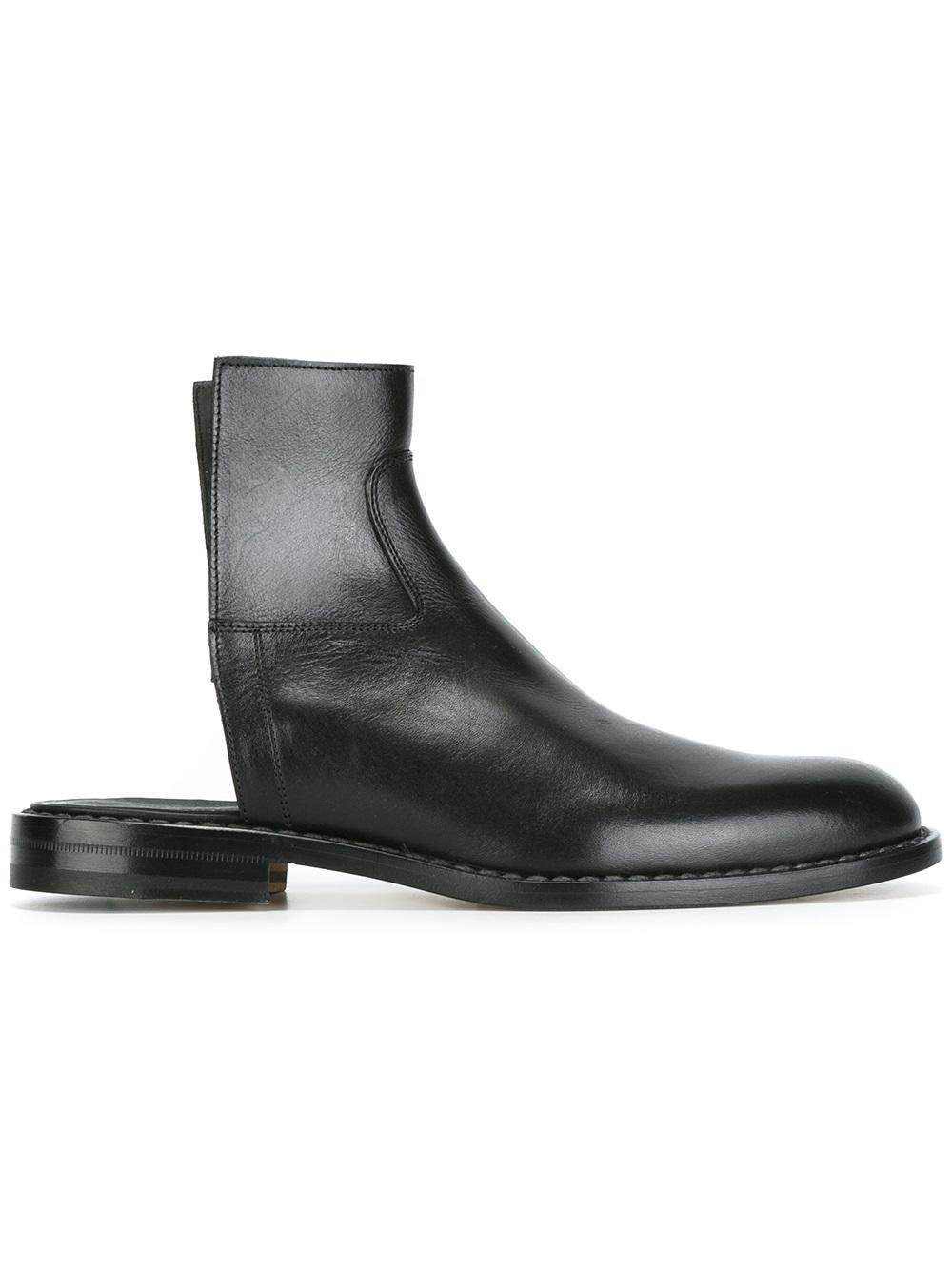 Lyst Maison Margiela Cut Off Boots In Black For Men