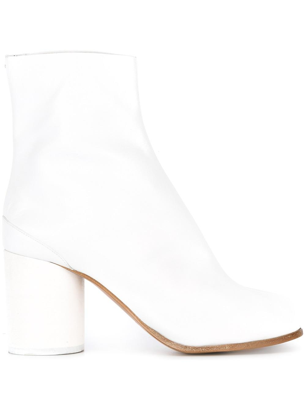 maison margiela tabi ankle boots in white lyst