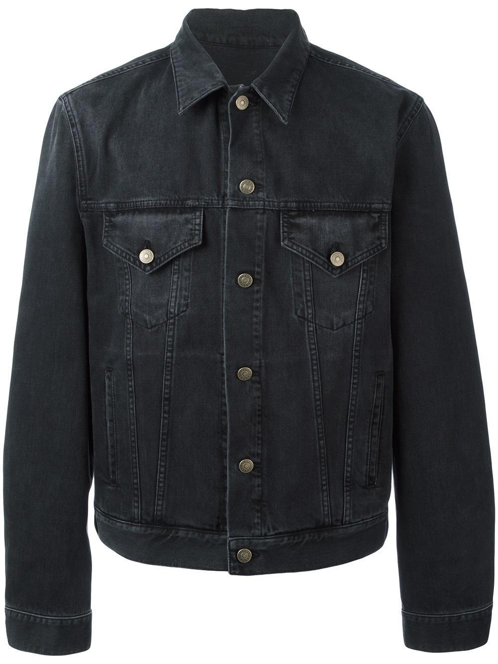 Gucci Embroidered Denim Jacket In Black For Men  Lyst