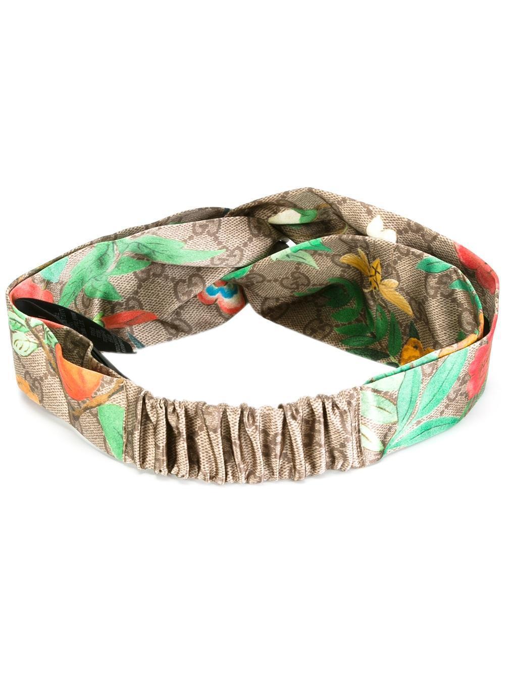 1b05c37b11d Gucci - Tian Print Headband - Women - Silk - One Size - Lyst