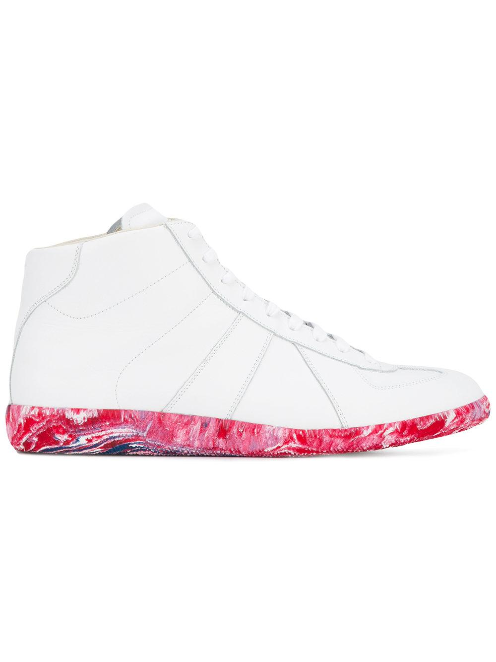 maison margiela high top sneakers in white for men lyst. Black Bedroom Furniture Sets. Home Design Ideas
