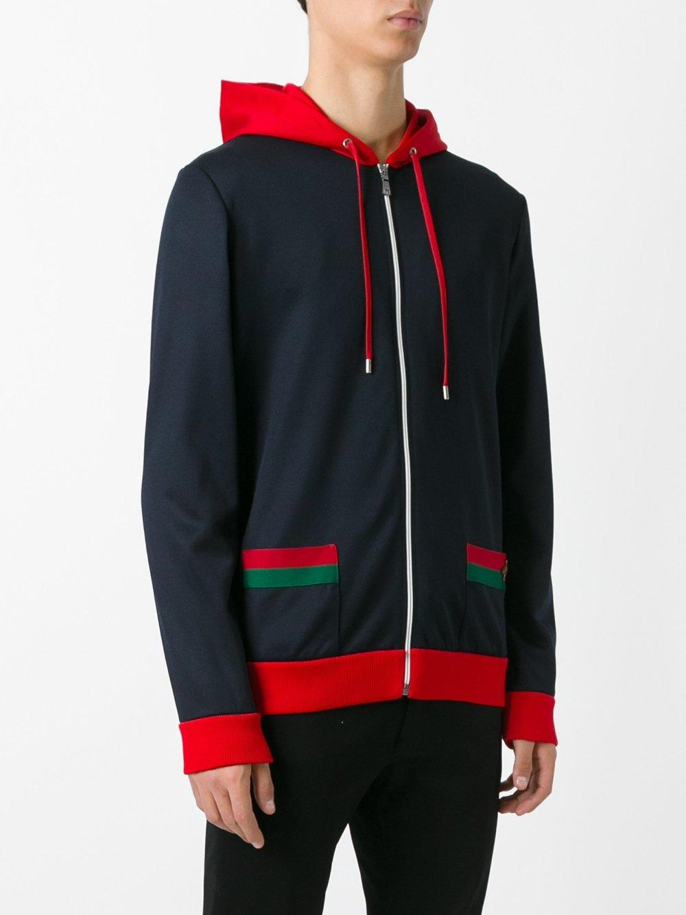 Gucci We Trim Hoodie In Blue For Men Lyst