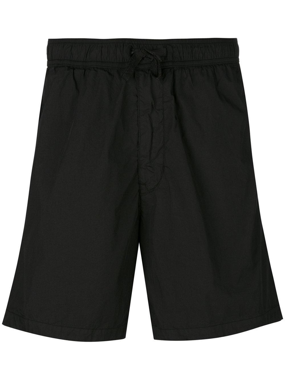 stone island track shorts in black for men lyst. Black Bedroom Furniture Sets. Home Design Ideas