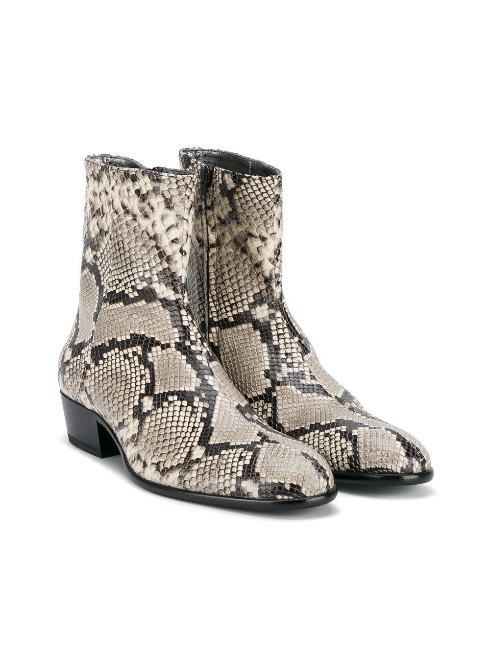 Snake Print Shoes Men