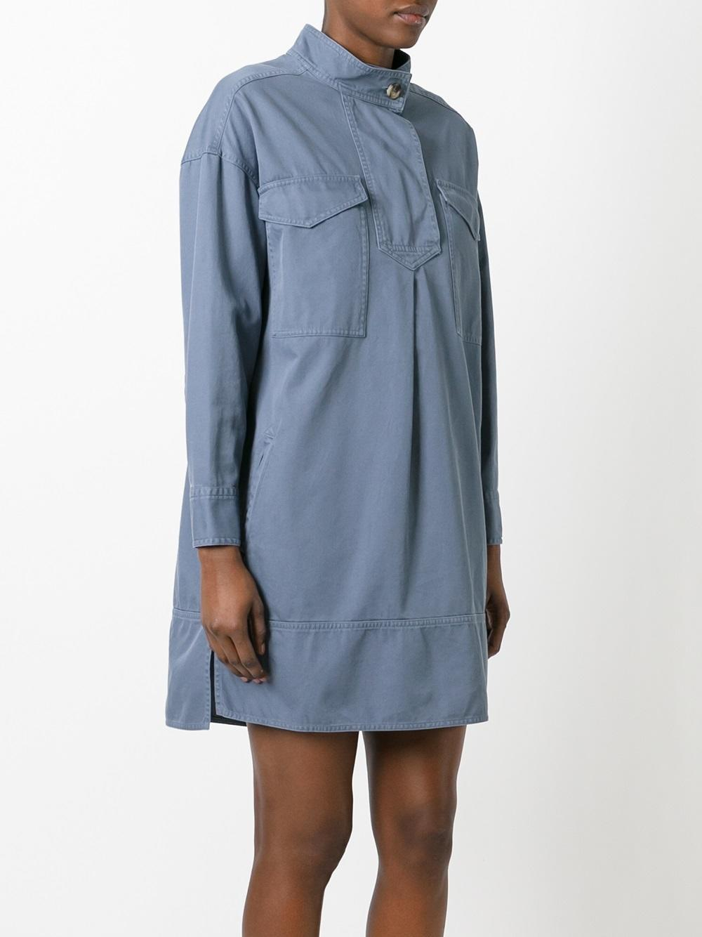 Toile Isabel Marant Omeo Shirt Dress In Blue Lyst