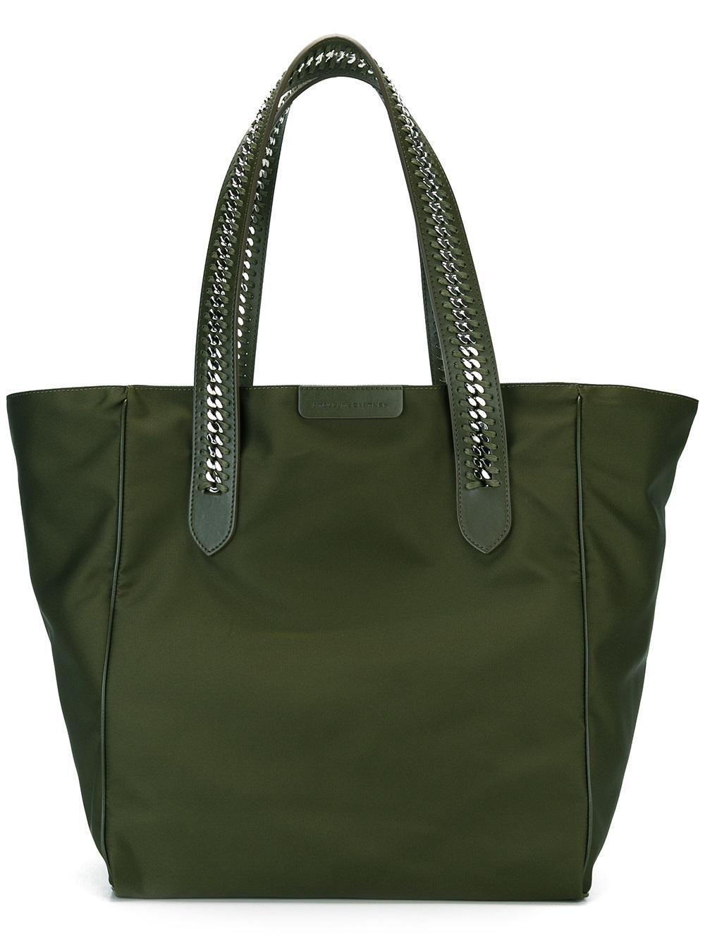 lyst stella mccartney falabella go shoulder bag in green. Black Bedroom Furniture Sets. Home Design Ideas