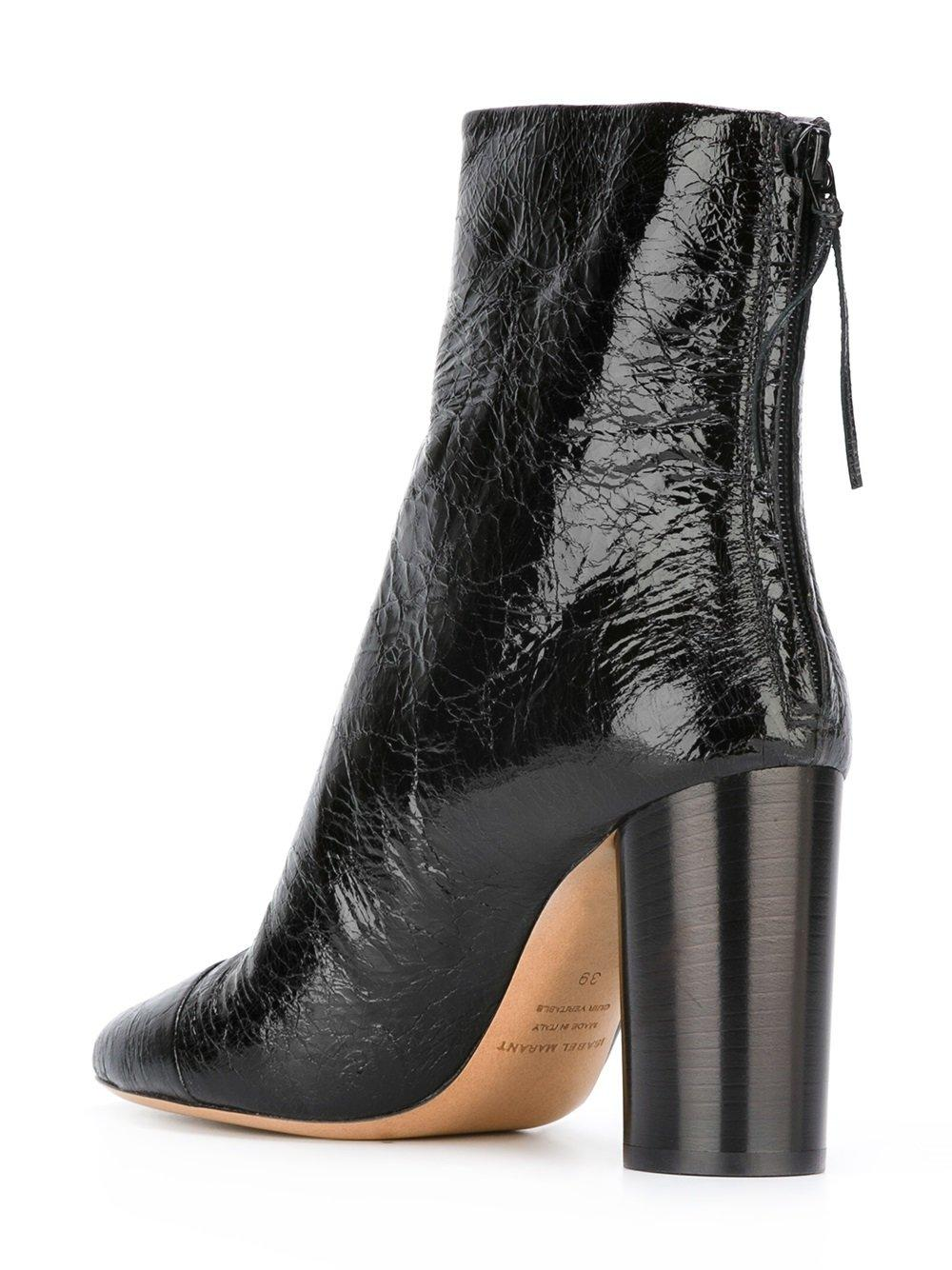 isabel marant grover ankle boots in black lyst. Black Bedroom Furniture Sets. Home Design Ideas