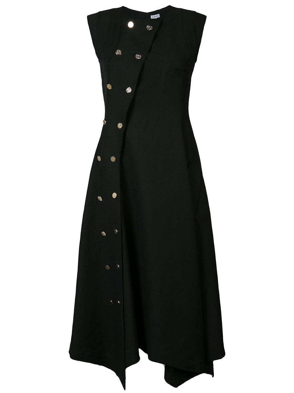 Lyst Loewe Double Breasted Dress In Black