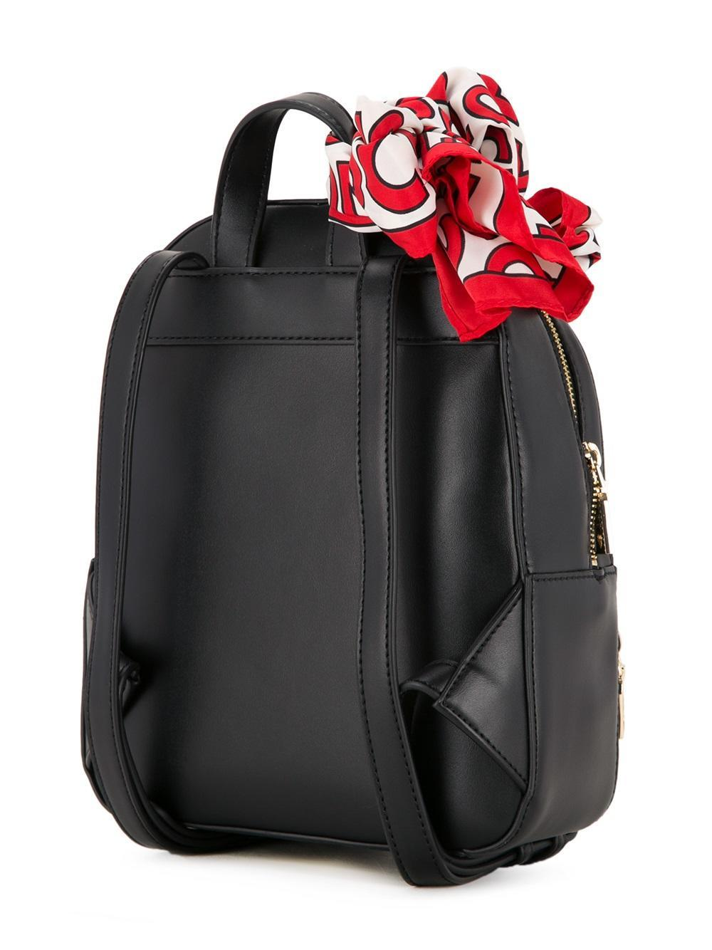 love moschino zipped backpack in black lyst. Black Bedroom Furniture Sets. Home Design Ideas