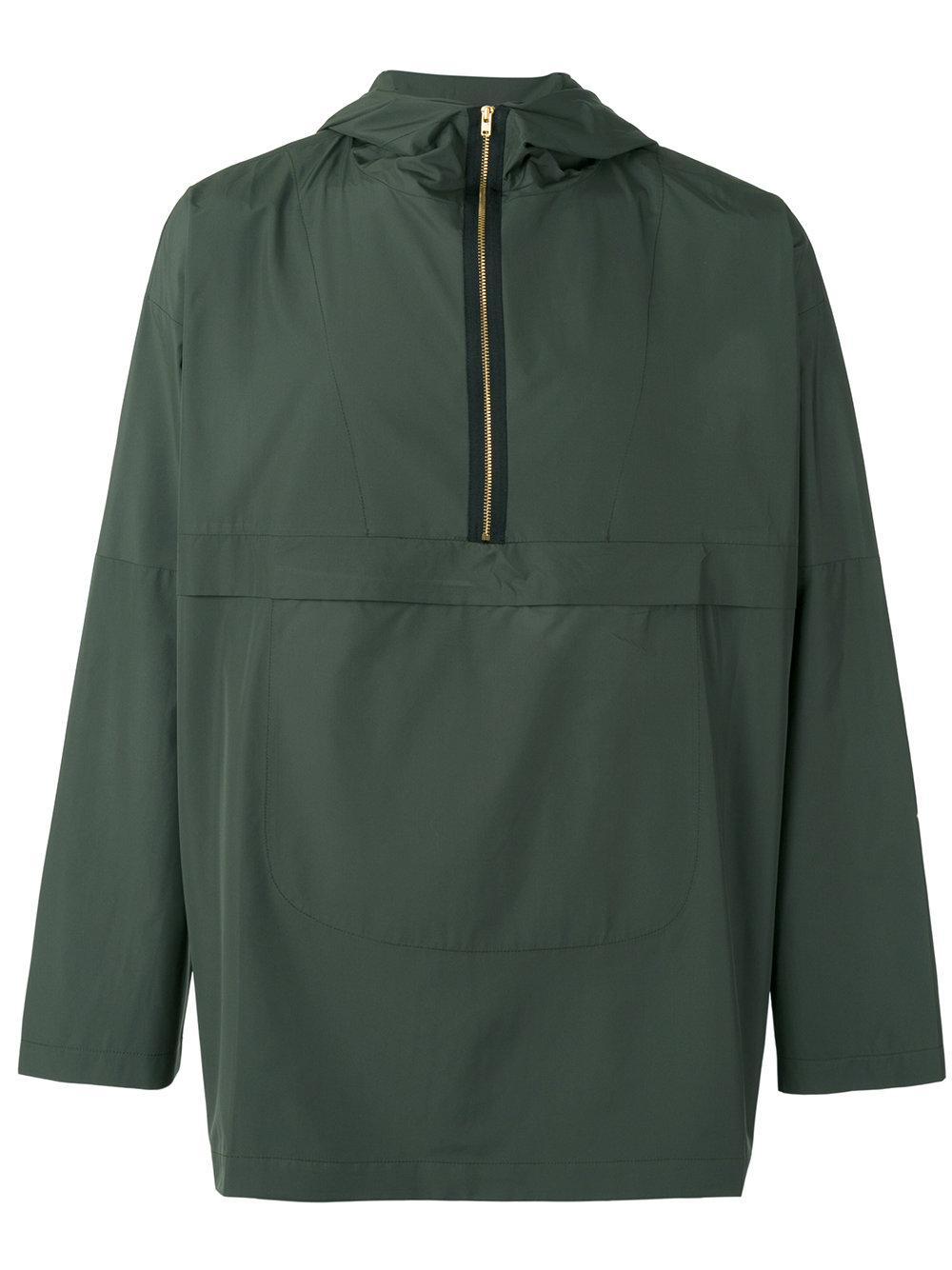 Oliver Spencer Half Zip Cagoule Jacket In Green For Men | Lyst