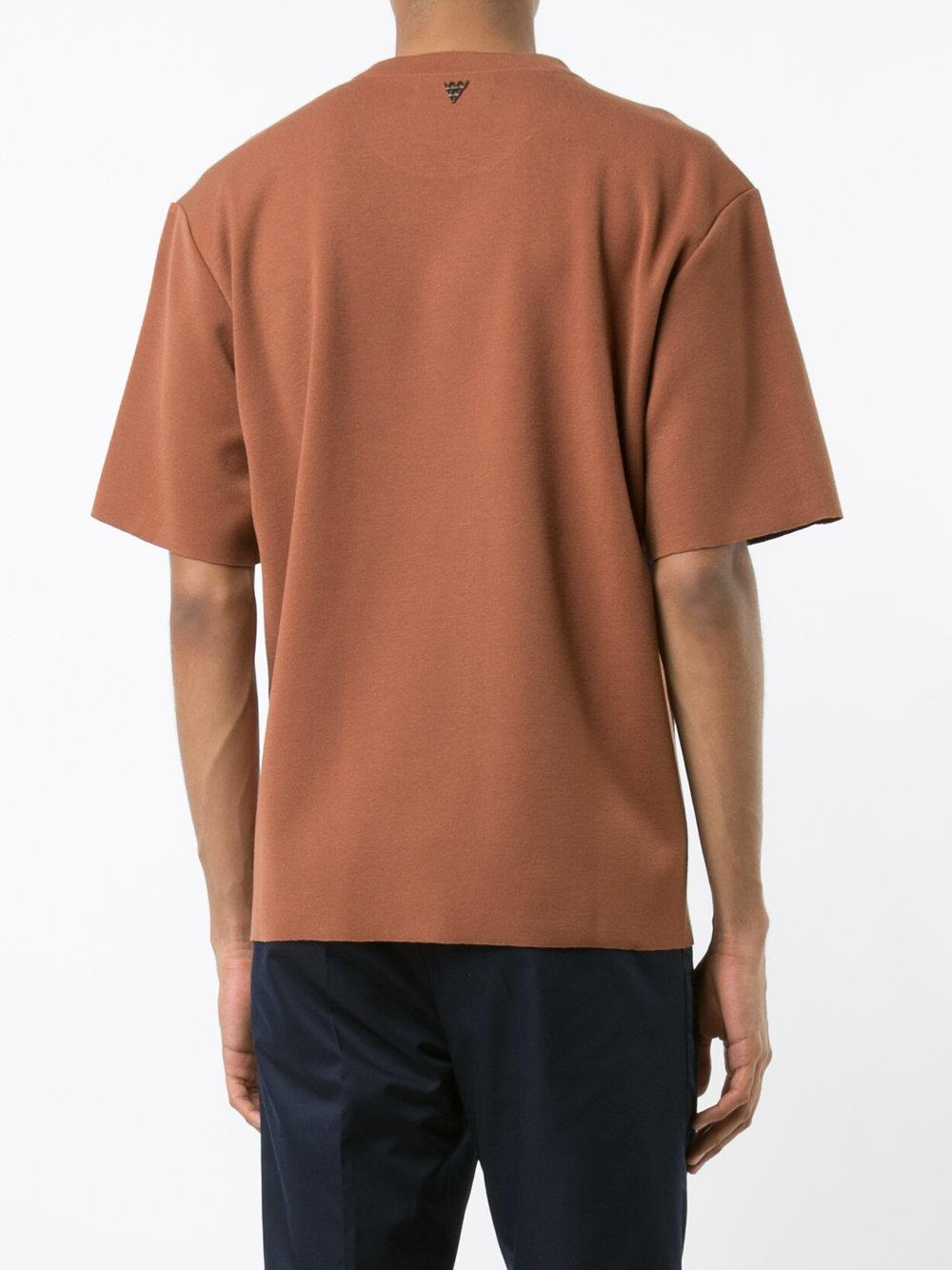 Lyst K 233 Um Contrast Double Faced T Shirt In Blue For Men
