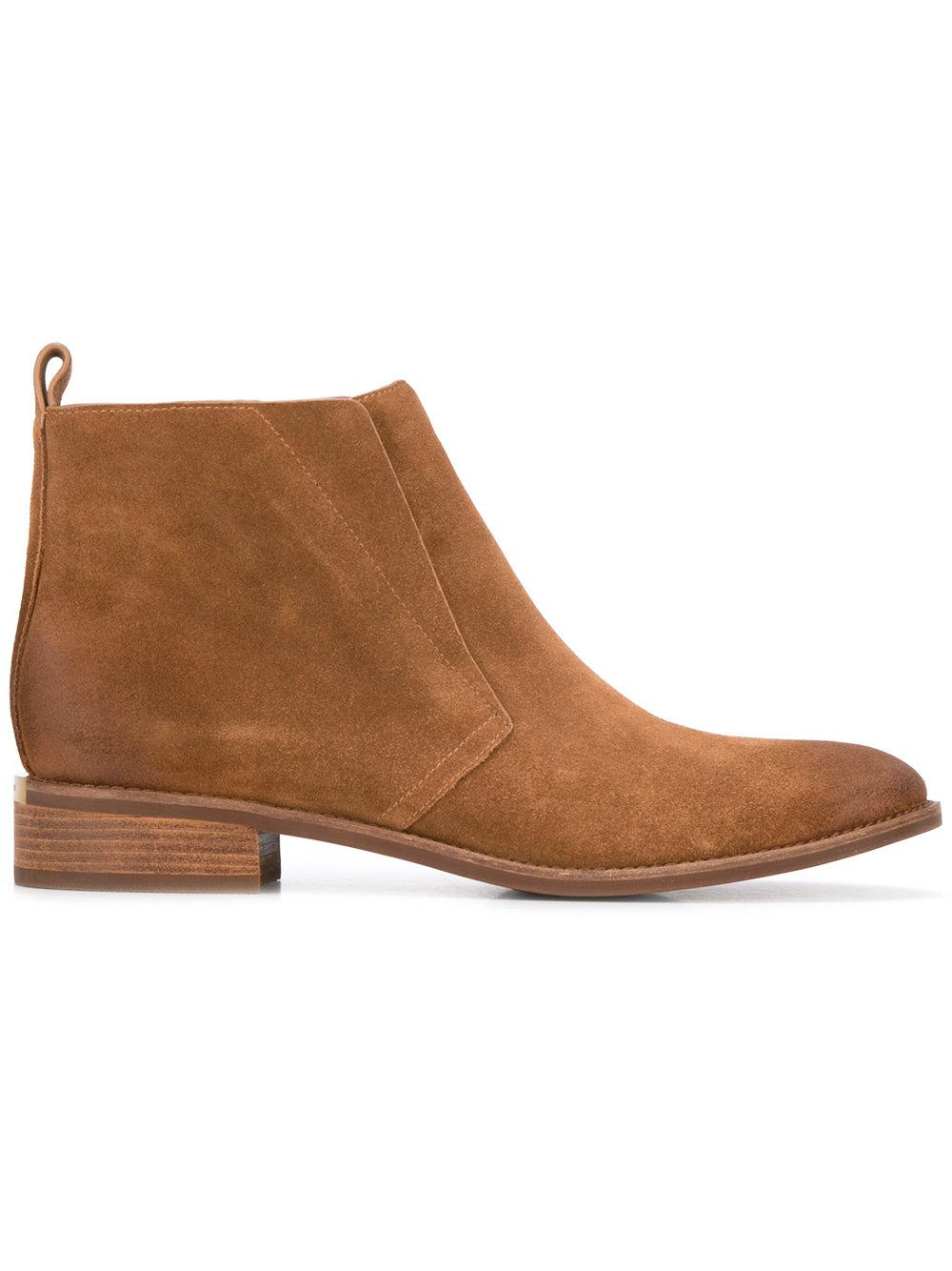 michael michael kors ankle length boots in brown lyst