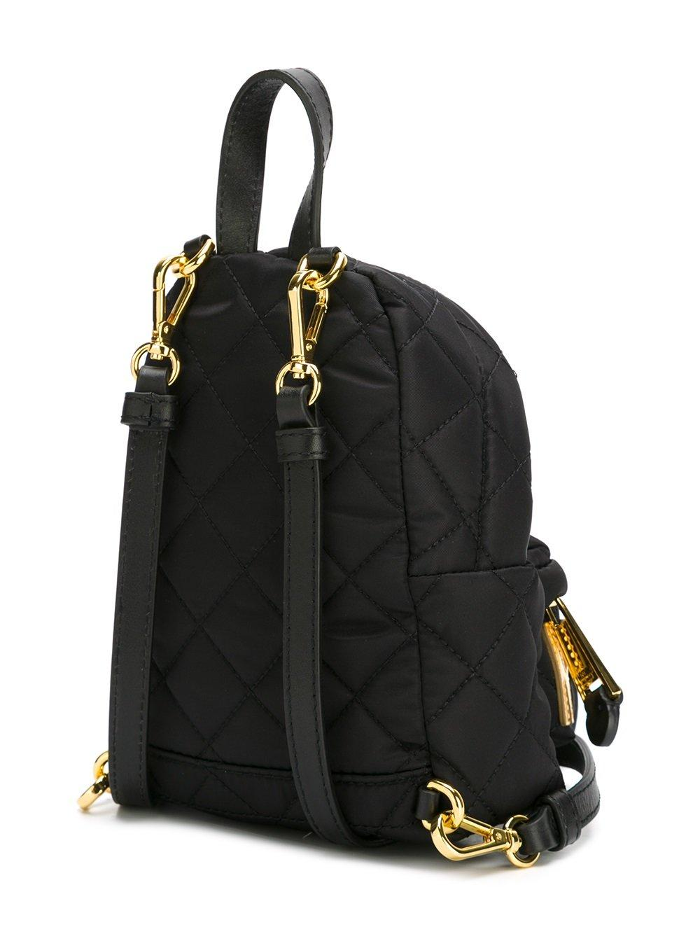 Moschino Mini Quilted Backpack In Black Lyst