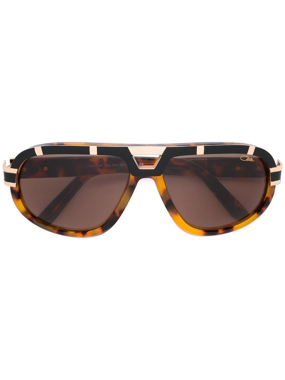lyst cazal tortoiseshell effect sunglasses in brown. Black Bedroom Furniture Sets. Home Design Ideas