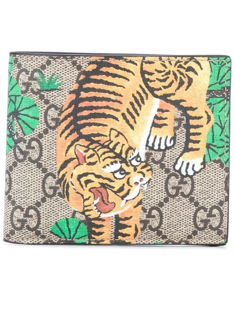 9f12c8480f2 Gucci Gg Supreme Bengal Print Wallet in Brown for Men - Lyst
