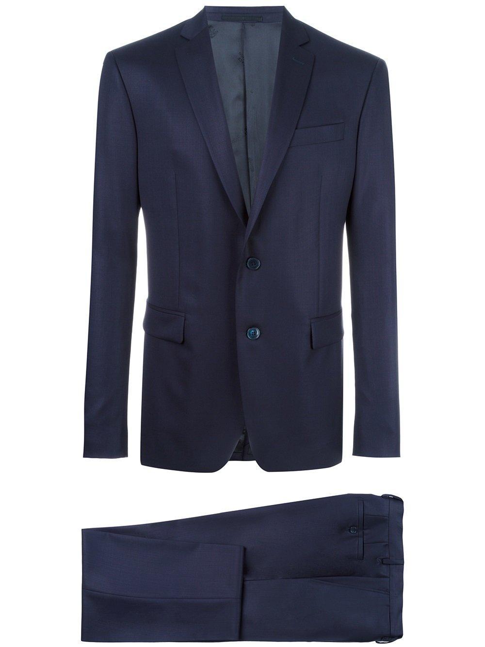 versace two piece suit in blue for men lyst. Black Bedroom Furniture Sets. Home Design Ideas
