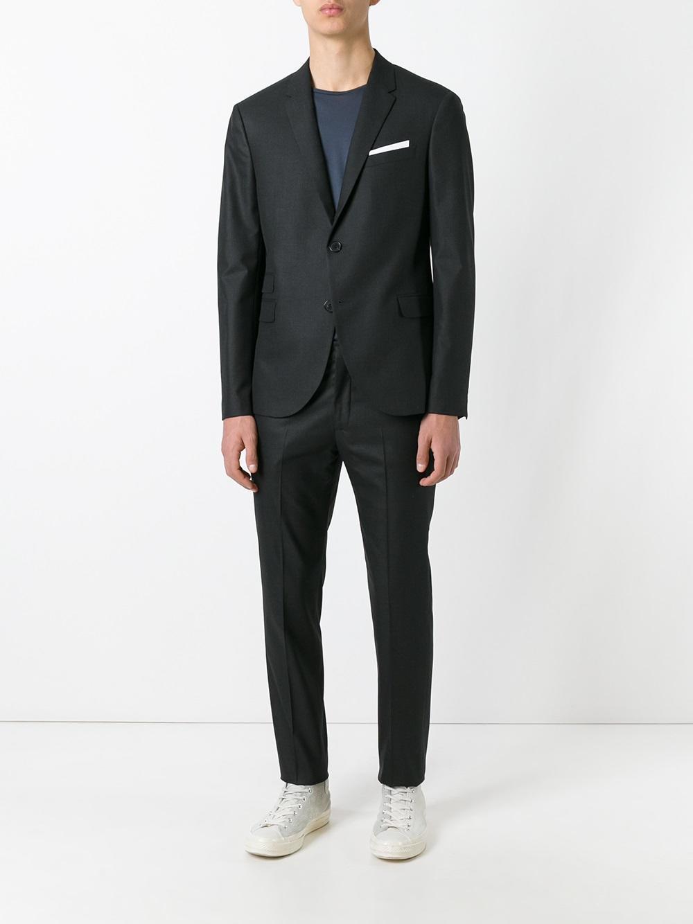 Lyst neil barrett formal suit in black for men for Neil barrett tuxedo shirt