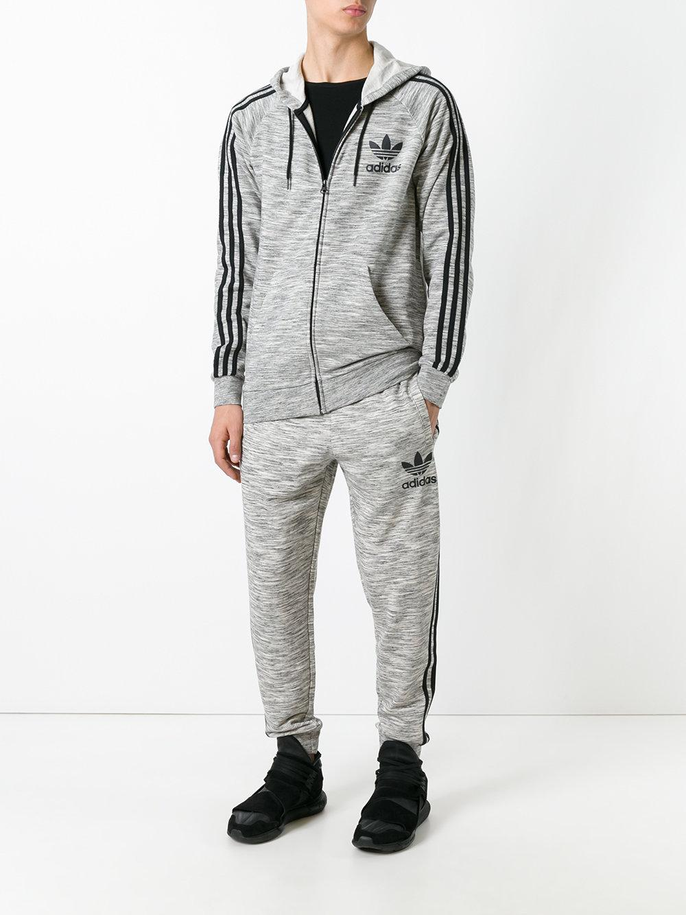 Lyst Adidas Originals Side Stripe Track Pants In Gray