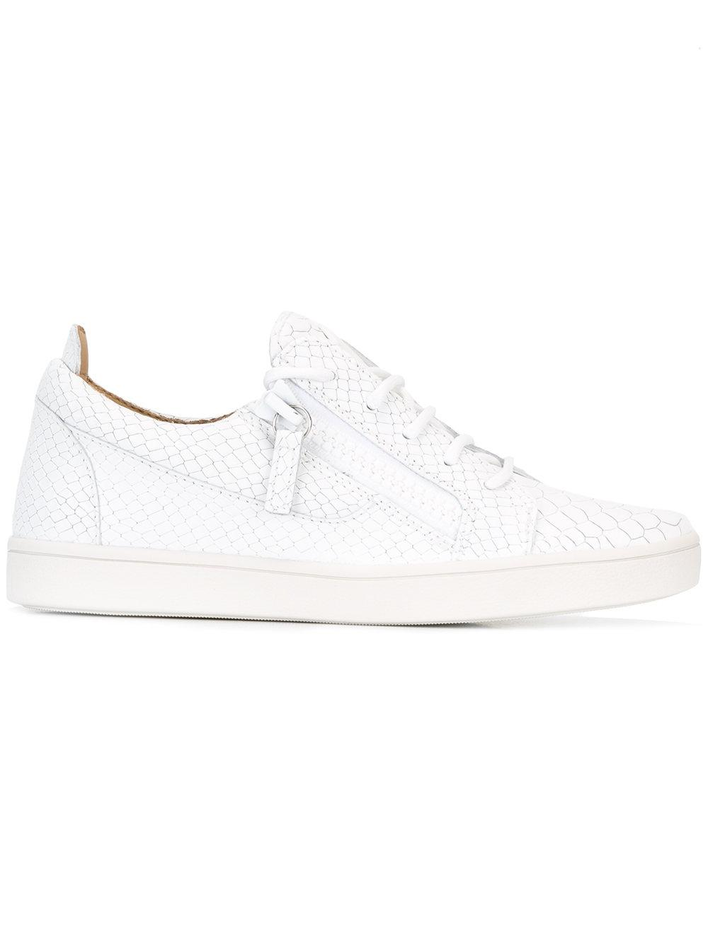 giuseppe zanotti nicki sneakers in white lyst