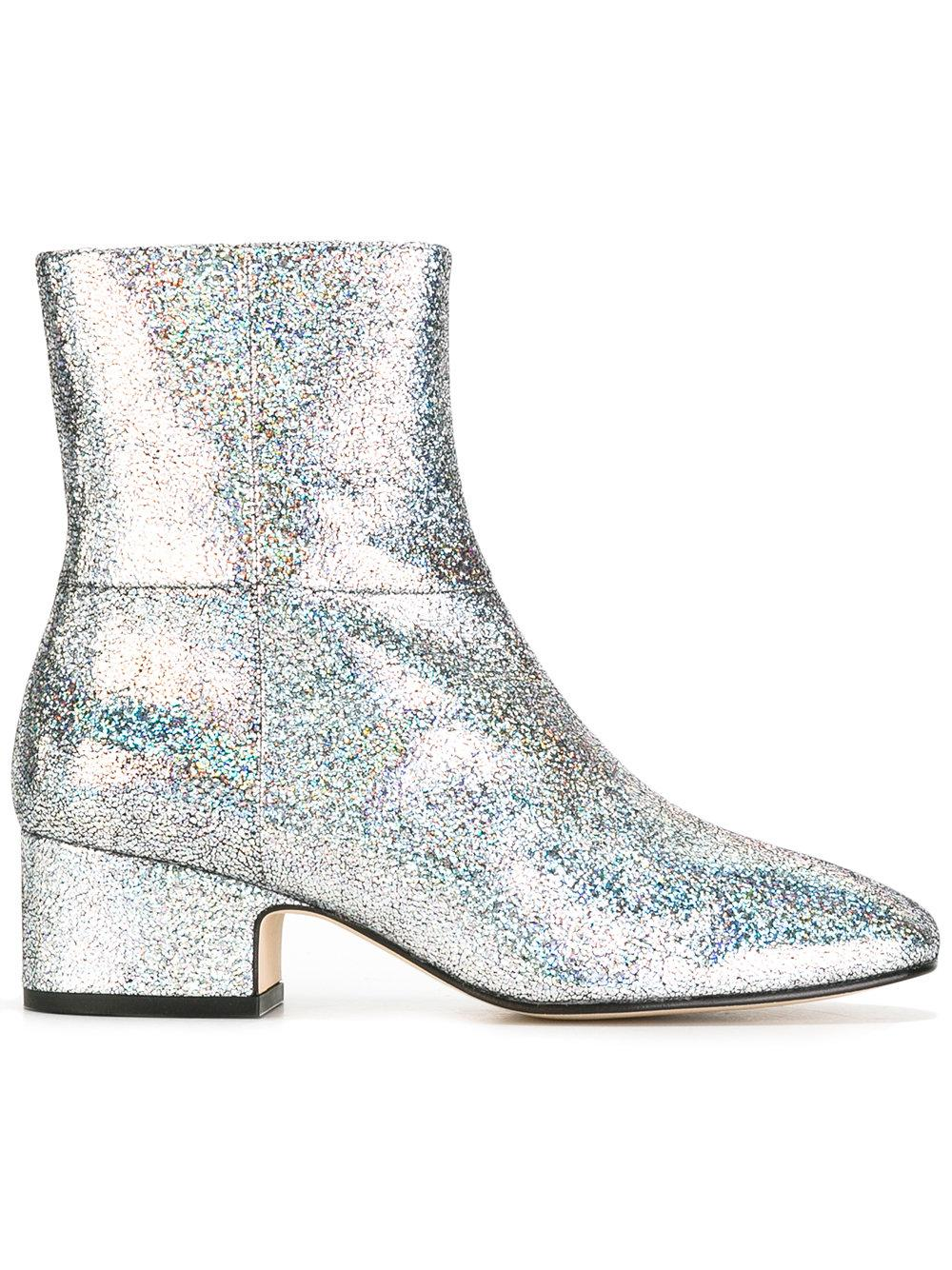 joseph glitter ankle boots in metallic lyst