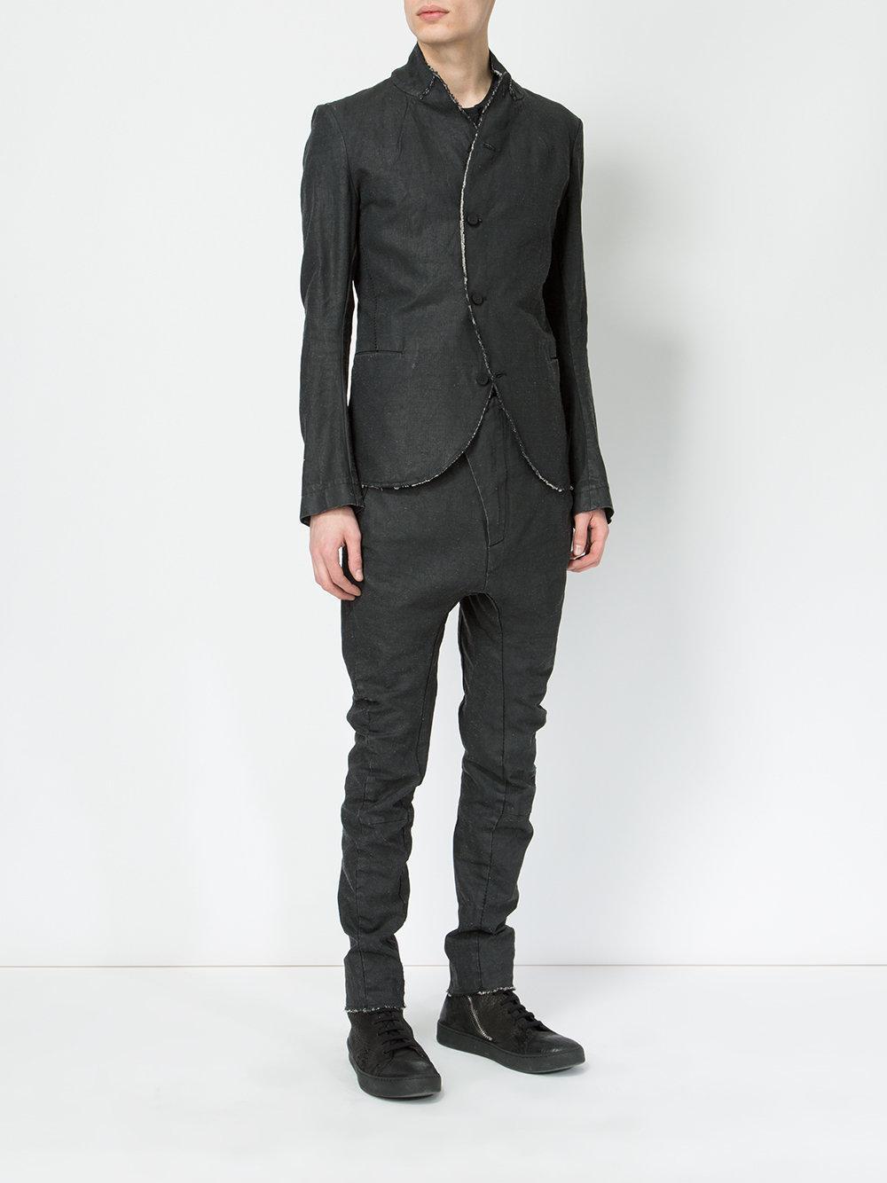 Masnada High Neck Blazer In Black For Men Lyst