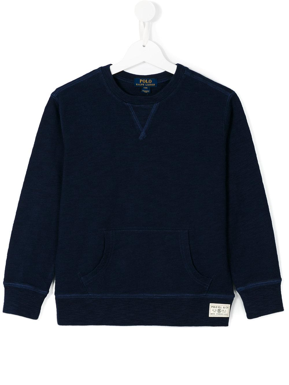 polo ralph lauren crew neck sweatshirt in blue lyst. Black Bedroom Furniture Sets. Home Design Ideas