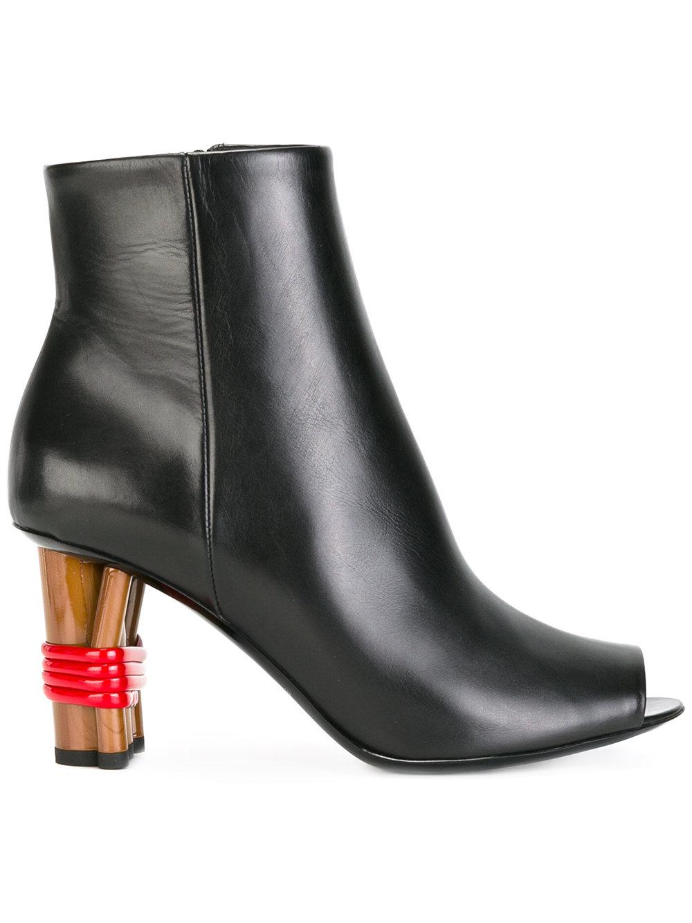 balenciaga open toe boots leather 38 5 in