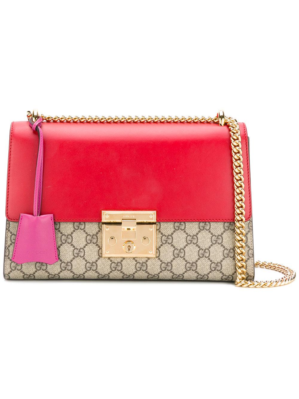 4fe54dde1df Lyst - Gucci Padlock Gg Supreme Shoulder Bag in Red