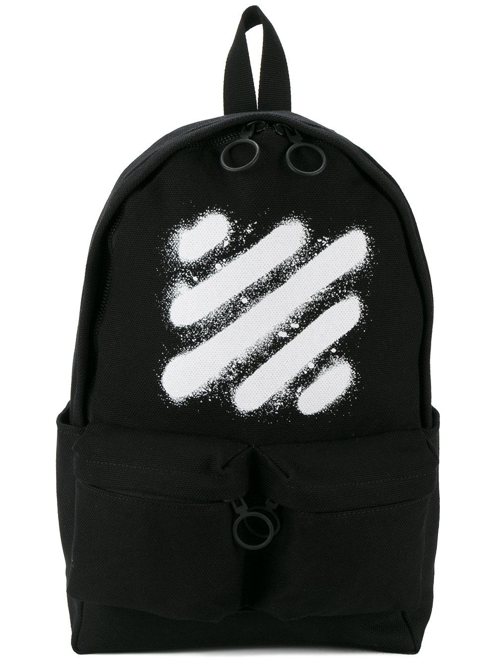 off white c o virgil abloh spray striped backpack in black. Black Bedroom Furniture Sets. Home Design Ideas
